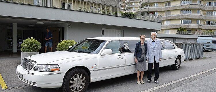 Lou und Klaras 60 Hochzeitstag Limo Fahrt