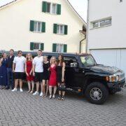 Nicoles Hummer Limo nach Zürich