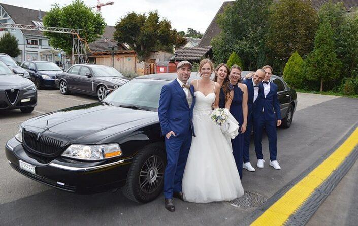 Bianca und Andreas Hochzeitslimo