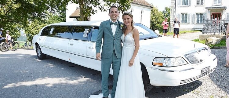 Celina und Philipps Hochzeitslimousine