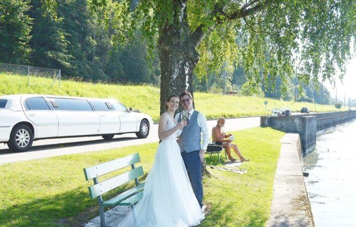 Judith & Michaels Hochzeitslimo Auszeit